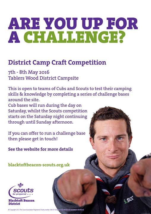 District Cub & Scout Camp Craft Competition -    This is two separate competitio...