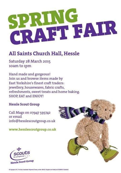 Don't forget about our craft fair coming up in a couple of weeks! At the fair, H...