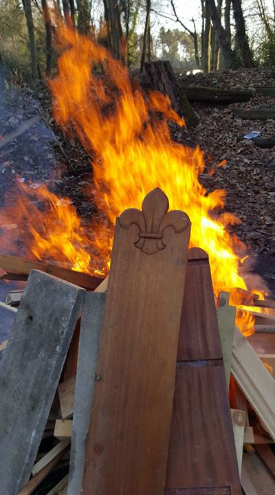 Nothing says  #scouting more than a fleur de lis and  #fire  #iscout