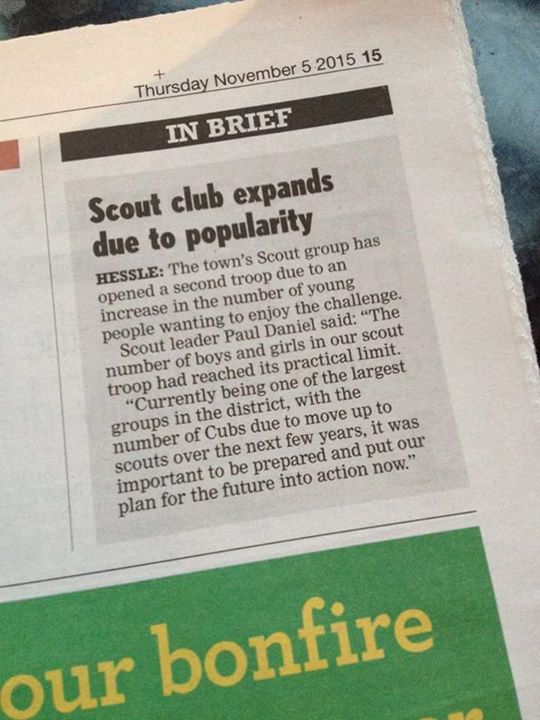 Our new Apache Scout Troop are in the paper today!  #iscout #scoutsinthemedia
