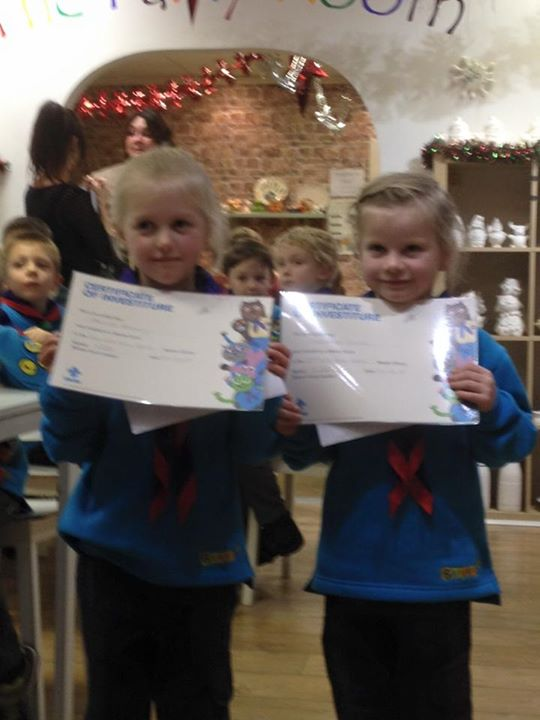 Photos from 2nd Kirk Ella Scout Group's postAmik Beavers invested 2 new members ...