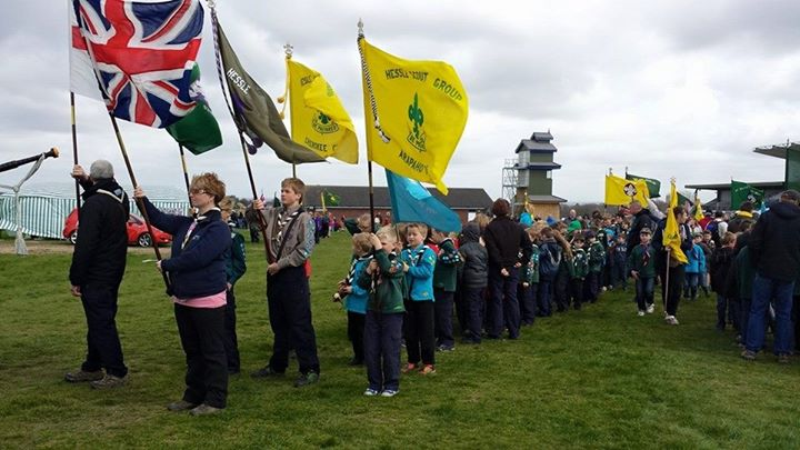 Photos from Hessle Scout Group's postHessle Scout Group flags at the front of th...