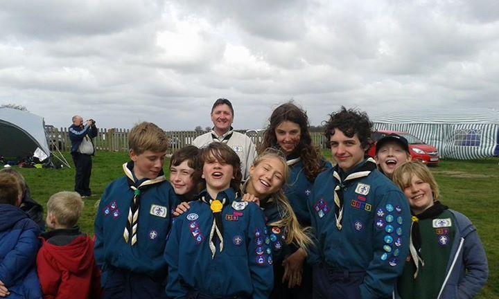 Scouts at Beverly racecourse