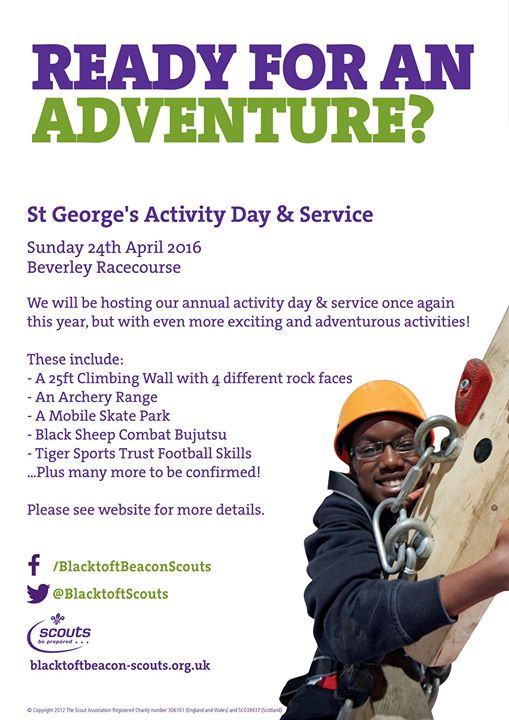 St George's Activity Day & Service 2016 - We are holding the above event on Sund...