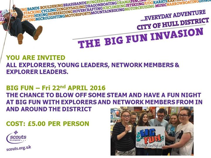 The Big Fun Invasion is a month away. Have you booked your place yet? To book pl...