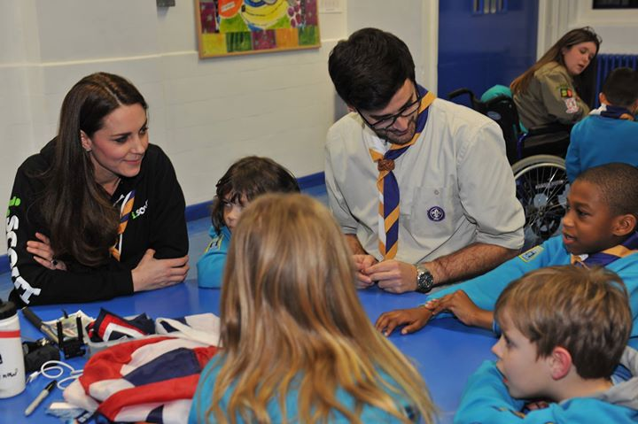 The Duchess of Cambridge is at a Scout Group in East London where every child is...