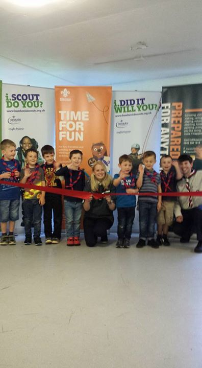 The new Skidby Beaver Colony was opened tonight by Harry Shires and our UK Youth...
