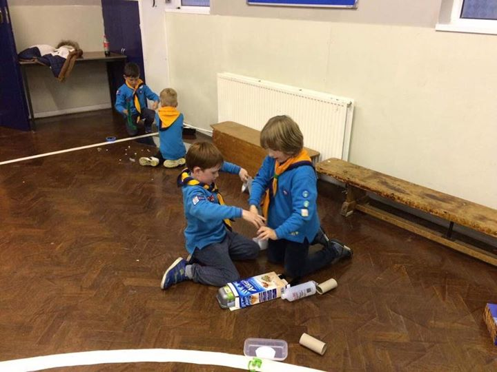 They look great!  #iscout  #beaversFab night at Beavers making junk robots. The ...