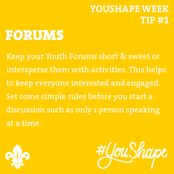 YouShape Week Tip  #1 - Over the 5 week run up to  #YouShape week, we will be re...