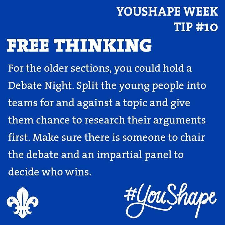 YouShape Week Tip  #10 -   -  -  #iScout  #YouShape