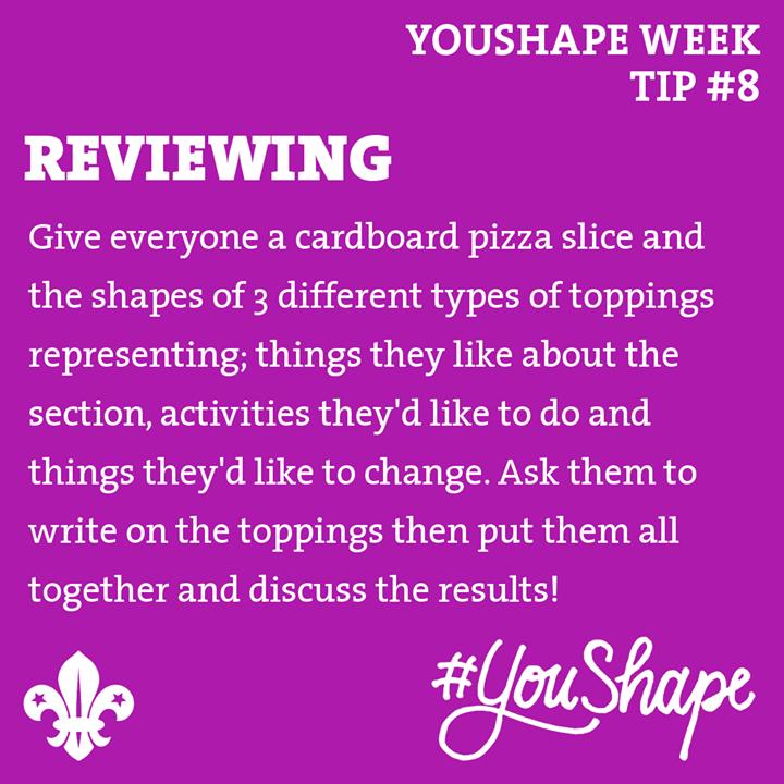 YouShape Week Tip  #8 -   -  -  #iScout  #YouShape