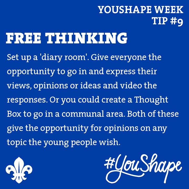 YouShape Week Tip  #9 -   -  -  #iScout  #YouShape