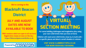 Build with Bricktopia - 27th July @ Your house!